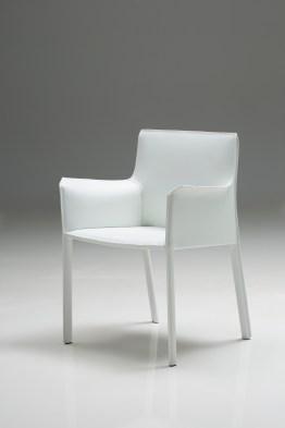 Fleur Arm Chair Mink Full Leather Wrap