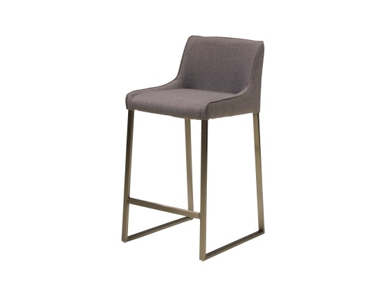 Zinc Dining Chair Bamboo Wood Seat with Bronze Powder Coated Steel Set of 4