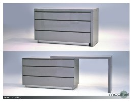 Blanche Double Dresser Hight Gloss White