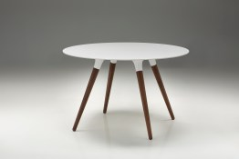 Ghost Extending Dining Table White Glass with Polished Stainless Steel