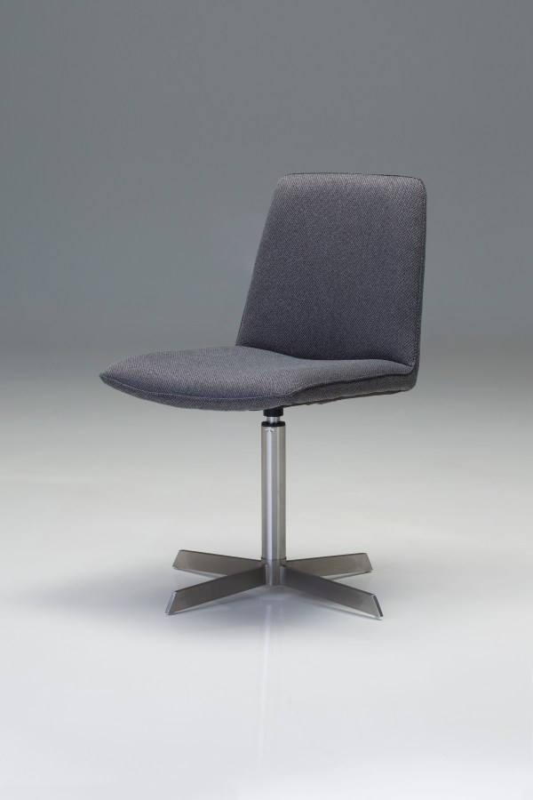 Swoon Lounge Chair Grey Fabric with Black Power Coated Steel
