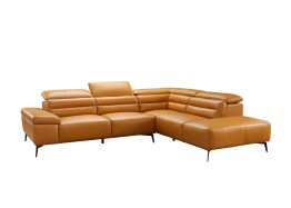 Camelo Right Side Facing Camel Colored Leather with Black Powder Coated Legs