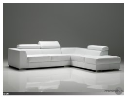 Icon RSF Sectional Dark Grey Premium Leather with Side Split
