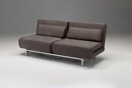 Iso Double Sleeper Sofa/ Daybed Tree Bark Tweed with Silver Powder Coated Steel