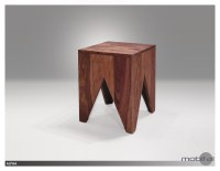 Alpha  End Table Natural Sheesham Wood