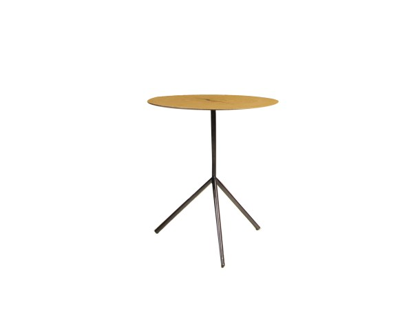 Oakley 18″ Low End Table Oak Veneer with Black Iron Legs