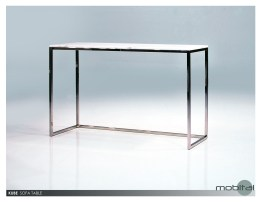 Axel Sofa Table Polished Stainless Steel