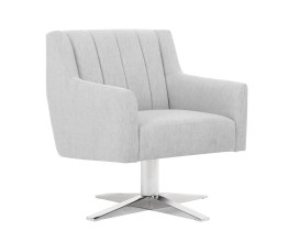CENTRAL PARK SWIVEL CHAIR – HEMINGWAY MARBLE FABRIC