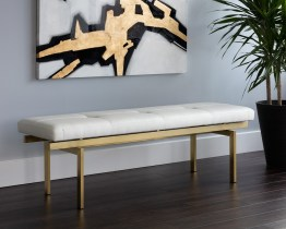 KEITH BENCH – CHAMPAGNE GOLD –  WHITE
