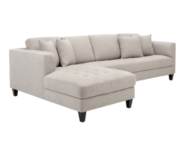 ARTHUR SOFA CHAISE – BEIGE TWEED FABRIC – LAF