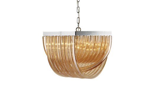 CURIE – CHANDELIER – SMALL – AMBER GLASS