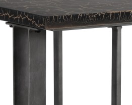 ALBION CONSOLE TABLE – CONCRETE – BLACK AND GOLD CRACKLE