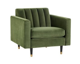 YOSI ARMCHAIR  –  MOSS GREEN FABRIC