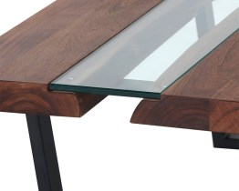 ALBANY CONSOLE TABLE – GLASS/ACACIA WOOD