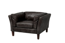 Cartwell Club Chair – Distressed Black Leather