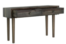 Merchant Console Table – Smoked Grey