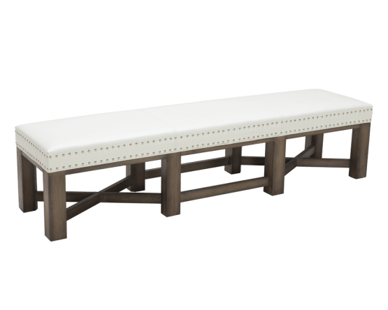BRIXTON BENCH – IVORY LEATHER