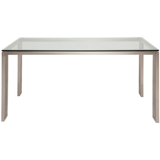 QUASI DINING TABLE CLEAR