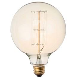 G125 29 ANCHORS 40W LIGHT BULB GOLD