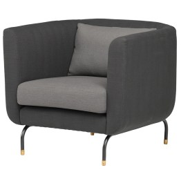 GABRIEL OCCASIONAL CHAIR CHARCOAL GREY