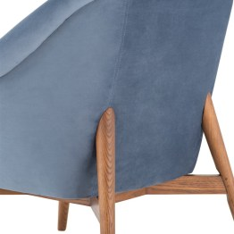 CHARLIZE OCCASIONAL CHAIR DUSTY BLUE