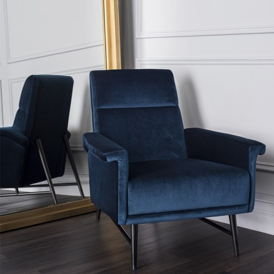 MATHISE OCCASIONAL CHAIR MIDNIGHT BLUE