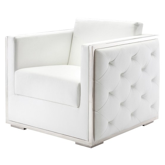 BOXER OCCASIONAL CHAIR WHITE