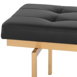 LOUVE BENCH BLACK
