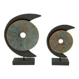 Blue Moon Sculpture Set Of 2