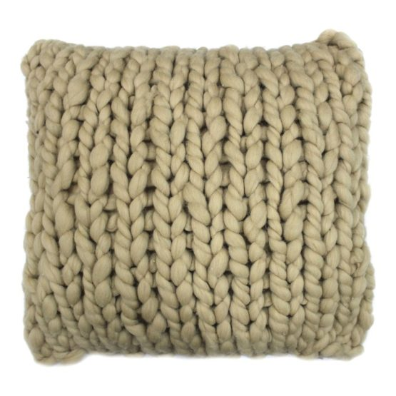 Abuela Wool Sand 20×20 Cover Only Sps