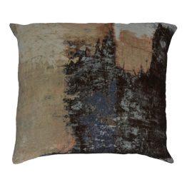 Brushstrokes Velvet Feather Cushion 25×25