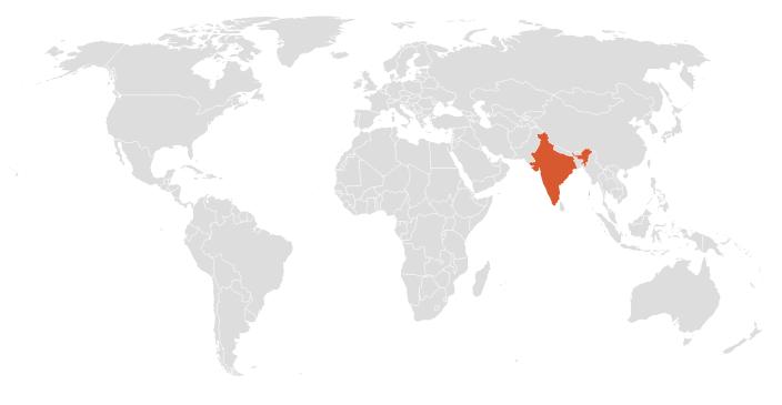 Mapa De La India En El Mundo.La Floricultura En El Mundo India Metroflor