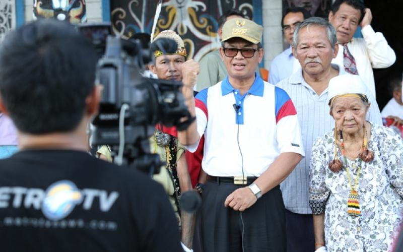 Syuting Advertorial Pj Gubernur dalam Rangka HUT RI di Perbatasan