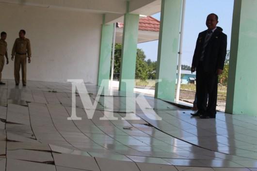 Wakil Walikota Tarakan saat meninjau Banguna Rusunawa II beberapa waktu lalu