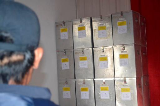 Surat suara hasil pleno terbuka rekapitulasi suara di Kecamatan Tarakan Utara telah dilimpahkan ke gudang KPU Tarakan.