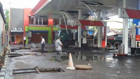 SPBU Hasanudin di Kalbar meledak sekitar pukul 06:45 WIB. (aline)