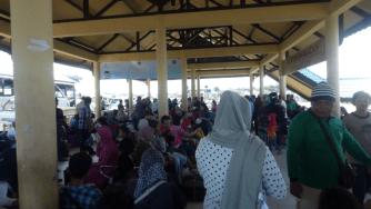 Kondisi kepadatan penumpang di Pelabuhan Tengkayu I Kota Tarakan.