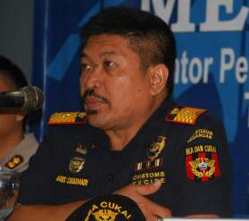 Kepala Kantor Pengawasan dan Pelayanan Bea Cukai (KPPBC) Wilayah Kalimantan Bagian Timur Agus Sudarmadi