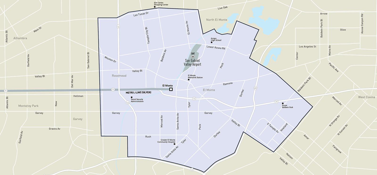 Metro Micro El Monte Service Zone Map