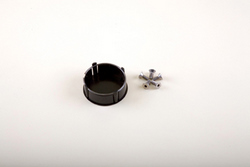 Golf Cart Black center steering wheel cap - $8.99