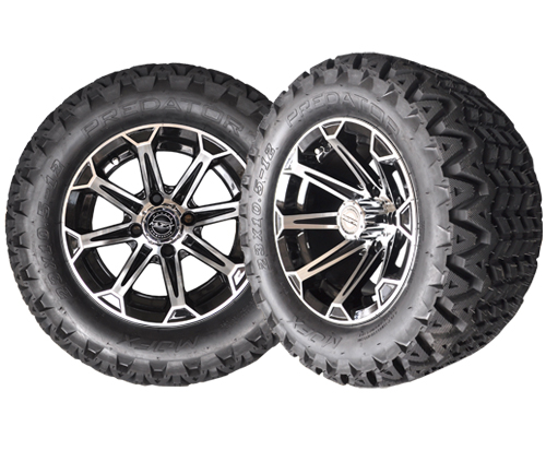 Golf Cart Wheels 12X7 Vortex Machine-Black- $569.00