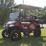 E-Z-GO RXV - Alabama-inspired Roll Tide golf cart