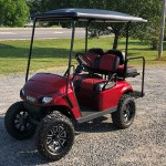 E-Z-GO RXV - Crimson Red golf cart
