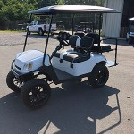Gloss White golf cart