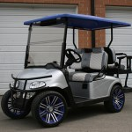 E-Z-GO RXV - Silver with blue top