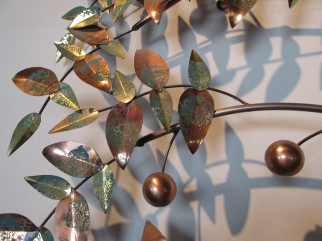 Metro Modern Curtis Jere Tree Of Life Metal Wall Sculpture