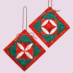 Quilted Cathedral Window Ornaments