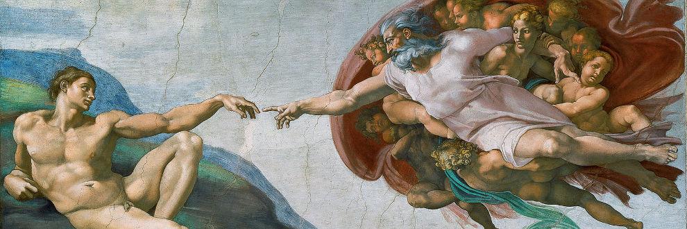 Michelangelos Fresko 'Die Erschaffung Adams'
