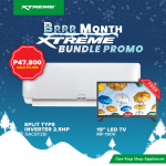 Bring home FREE appliances with XTREME BRRR Month Aircon Bundle Promo