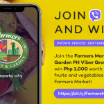 Join Farmers Market & Garden Viber group, and win freebies from Araneta City